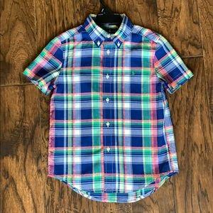 Ralph Lauren boys size 6 short sleeve button down